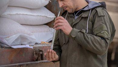 Photo of جانب من عمل مركز الحجر الصحي والزراعي وقسم الكشف في أمانة جمارك معبر باب الهوى