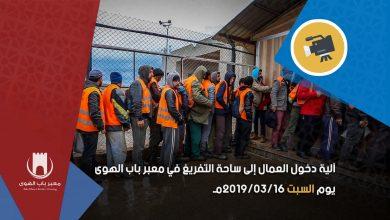 Photo of آلية دخول العمال إلى ساحة التفريغ في معبر باب الهوى
