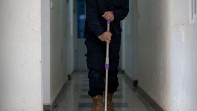 "Photo of جانب من أعمال قسم الإشراف الفني ""ورشة النظافة"" في معبر باب الهوى"