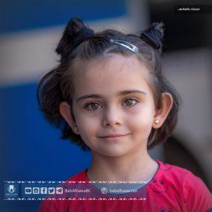 طفلة في معبر باب الهوى - سوريا