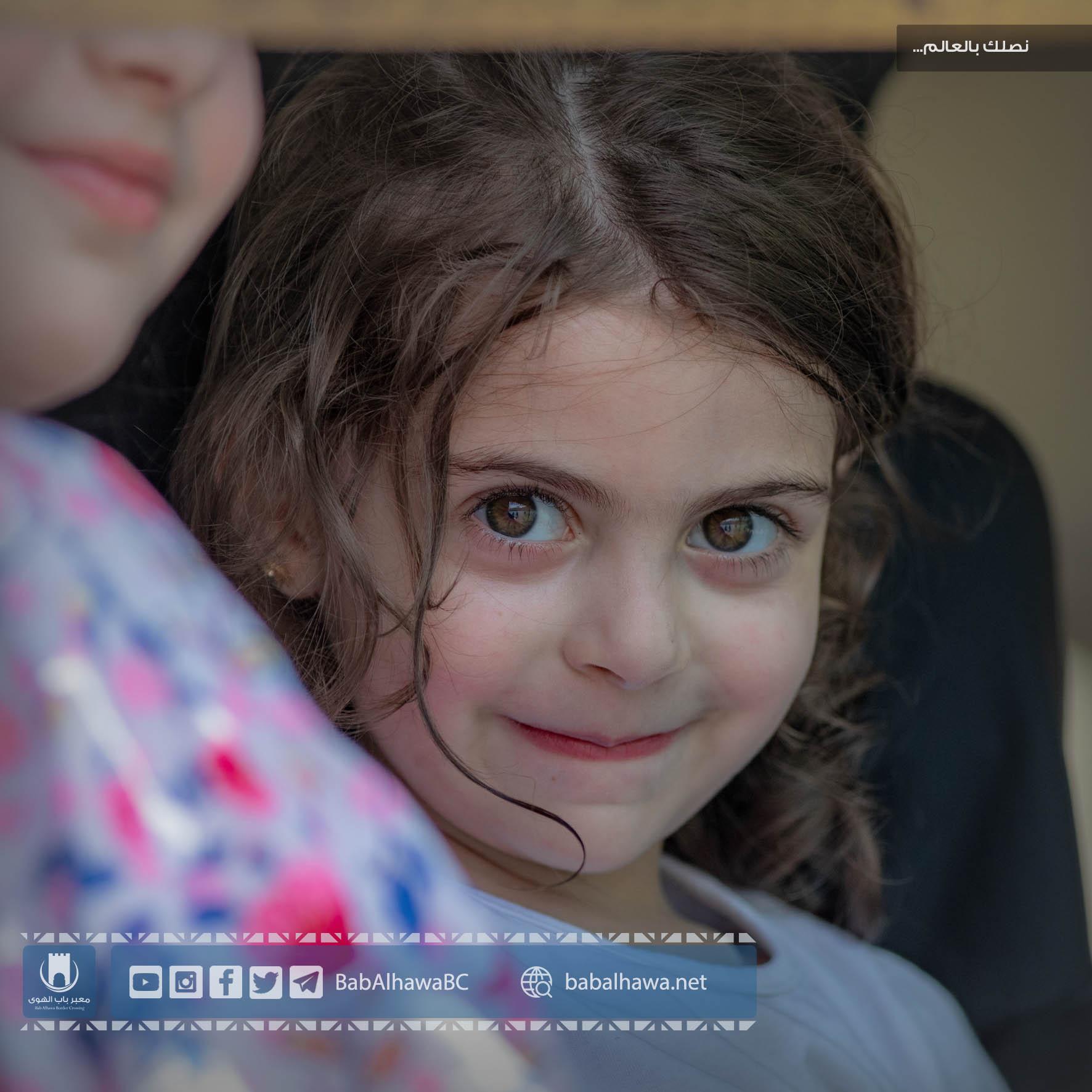 طفلة في معبر باب الهوى