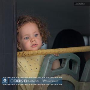طفلة مسافرة إلى تركيا - معبر باب الهوى الحدودي