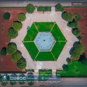 صورة جوية لحديقة معبر باب الهوى الحدودي