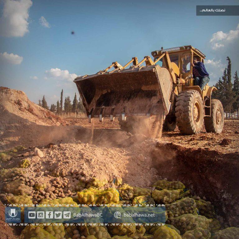 Photo of إتلاف ثلاث شحنات غير مطابقة للمواصفات من مادة البطاطا وردت إلى معبر باب الهوى