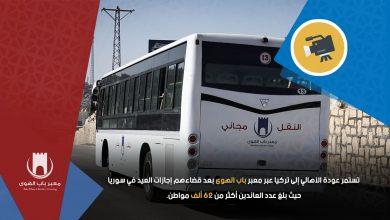 Photo of تستمر عودة الأهالي إلى تركيا عبر معبر باب الهوى بعد قضاءهم إجازات العيد في سوريا، حيث بلغ عدد العائدين أكثر من 62 ألف مواطن.