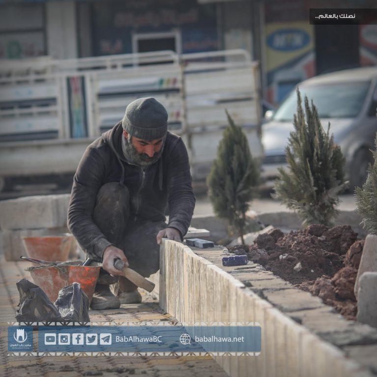 Photo of جانب من استمرار العمل في مشروع توسعة وصيانة عقدة مواصلات سرمدا – باب الهوى.