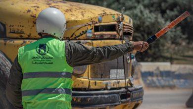 Photo of جانب من عمل قسم الحراسات والمرور في معبر باب الهوى