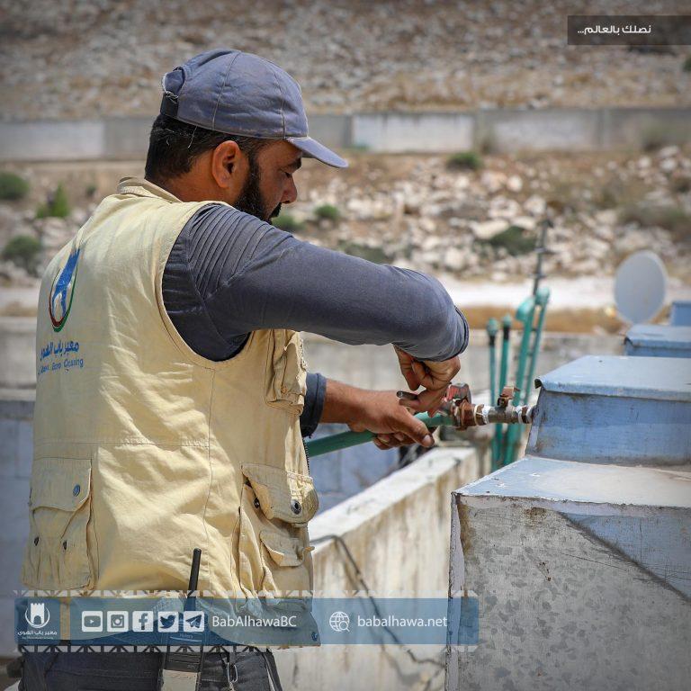 Photo of جانب من أعمال ورشات قسم الإشراف الفني في معبرباب الهوى